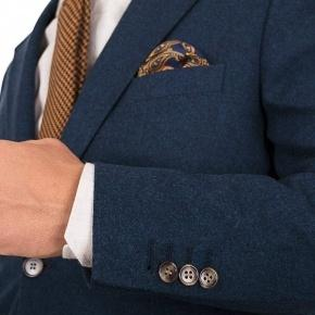 Teal Blue Wool Flannel Suit - thumbnail image 1