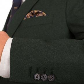 Dark Green Wool Flannel Suit - thumbnail image 1