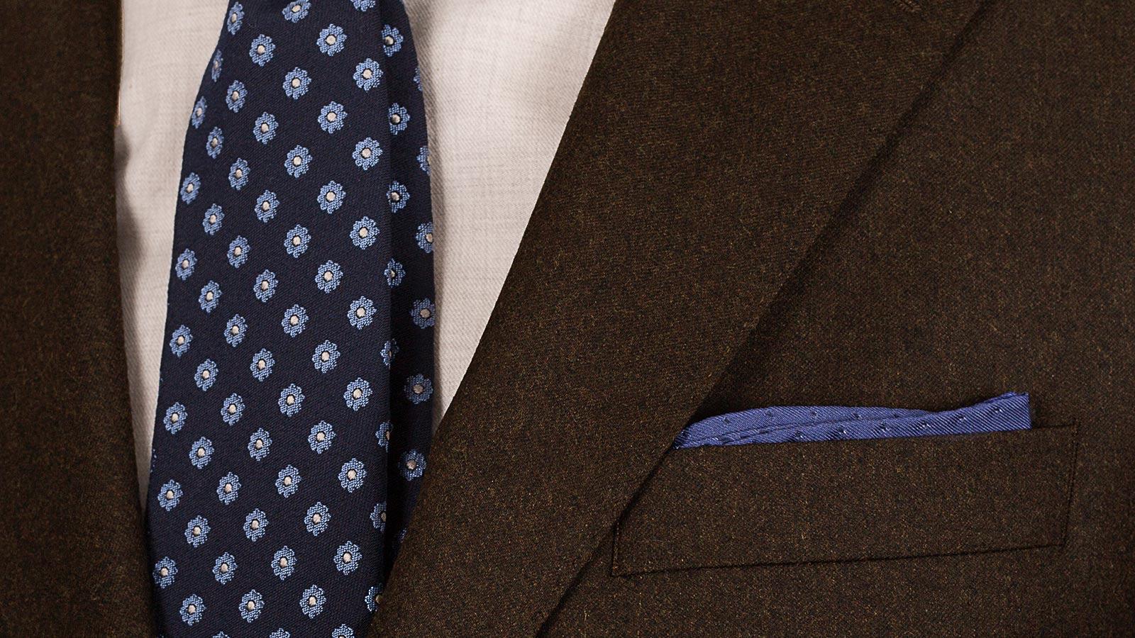 Brown Wool Flannel Suit - slider image 1