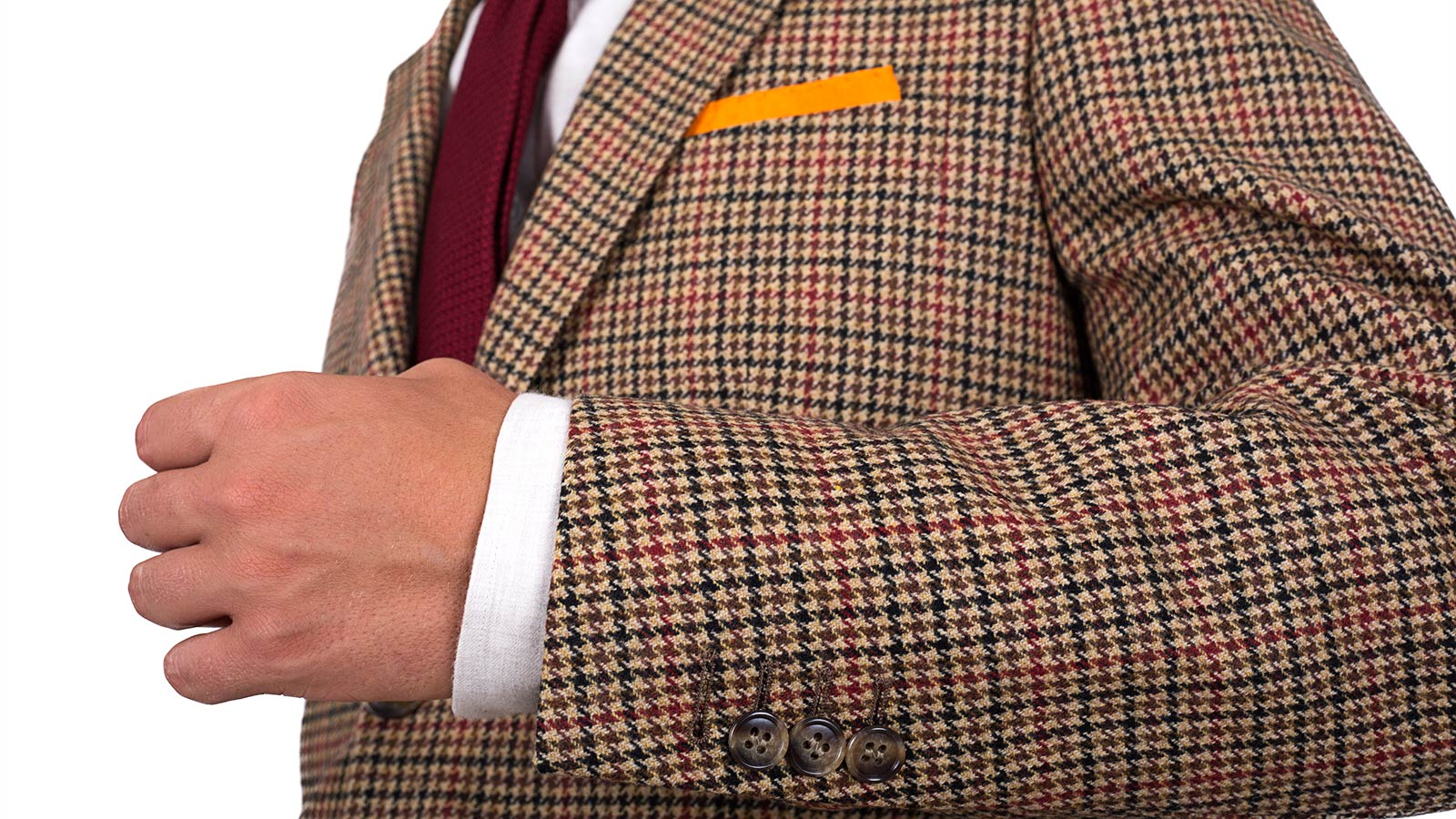Light Brown Check Wool & Cashmere Suit - slider image