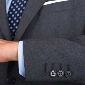 11 oz Grey Twill Suit - thumbnail image 1