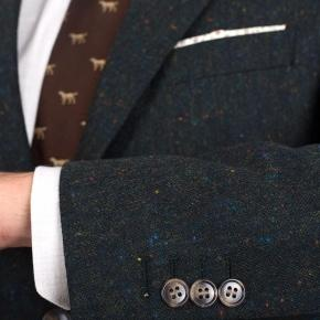 Olive Green Donegal Tweed Suit - thumbnail image 1