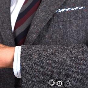 Dark Grey Donegal Tweed Suit - thumbnail image 1