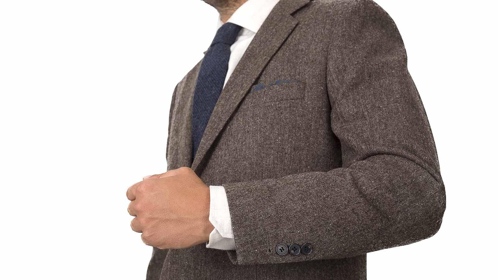 Suit in Natural Brown Tweed - slider image