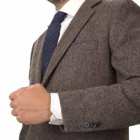 Suit in Natural Brown Tweed - thumbnail image 1