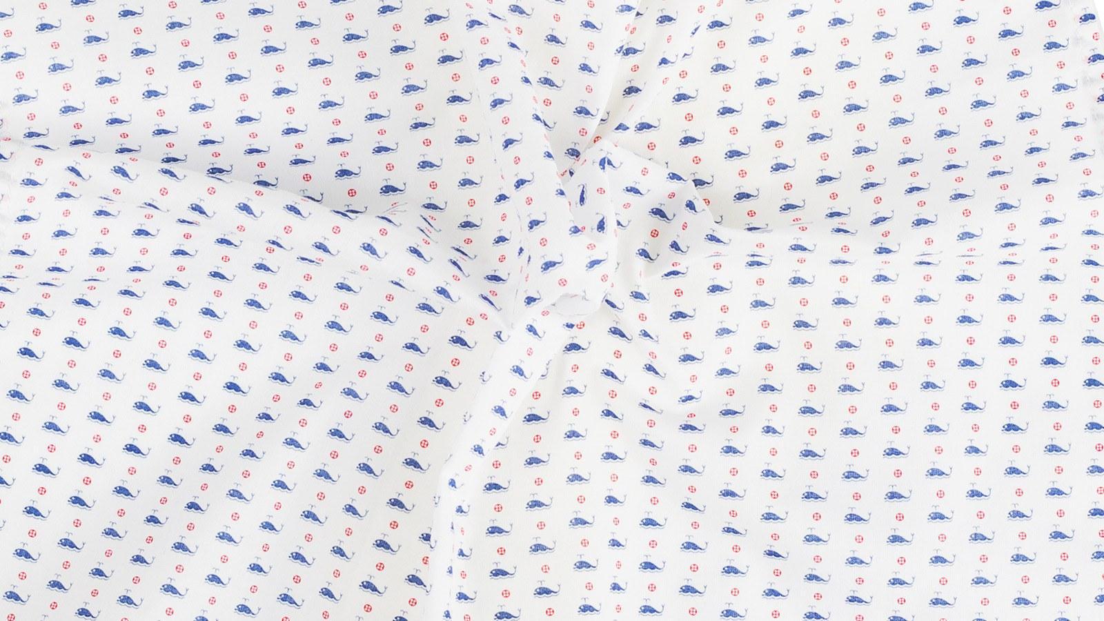 Whales Pattern Cotton Pocket Square - slider image