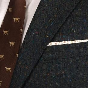 Olive Green Donegal Tweed Blazer - thumbnail image 2