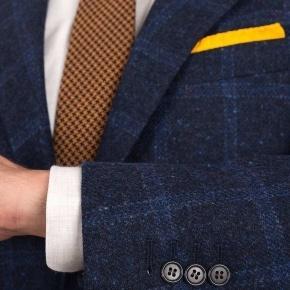 Blue Check Blue Shetland Tweed Blazer - thumbnail image 1