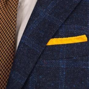 Blue Check Blue Shetland Tweed Blazer - thumbnail image 2