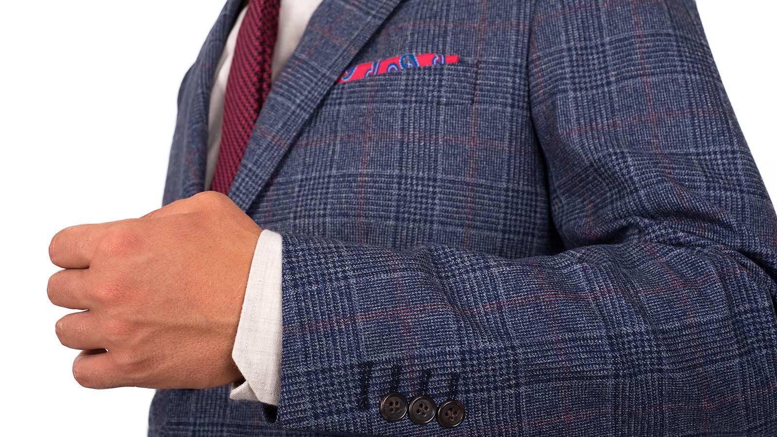 Blue Plaid Wool & Cashmere Blazer - slider image