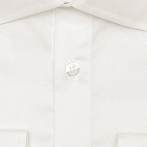 Ivory Two-Ply Cotton Twill Shirt - thumbnail image 1