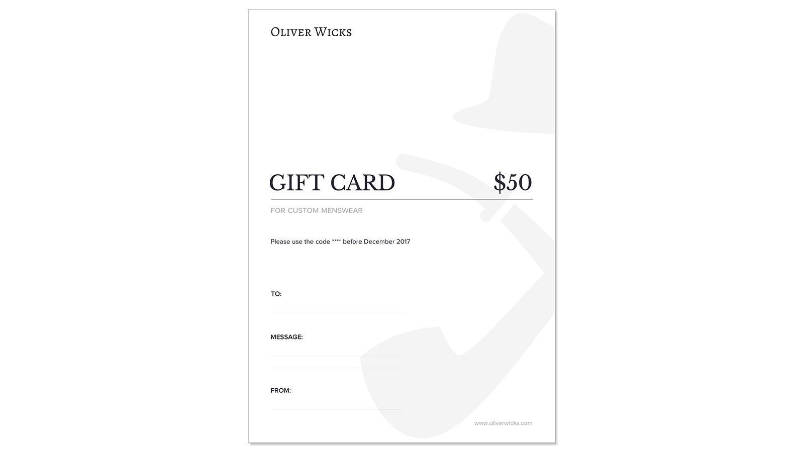 $50 / €47 Gift e-Card  - slider image