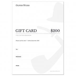 $200 / €186 Gift e-Card - thumbnail image 1