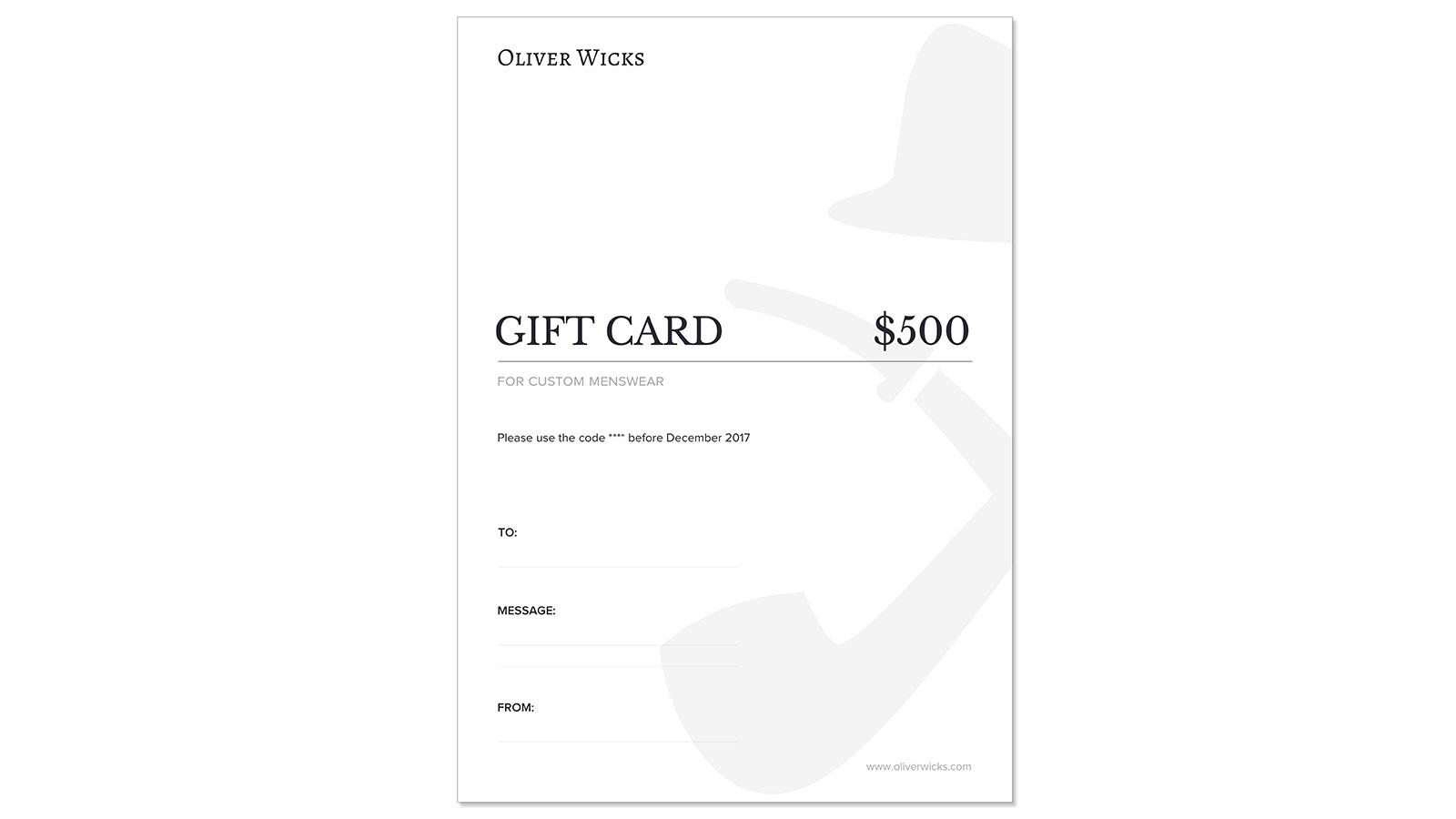 $500 / €465 Gift e-Card - slider image