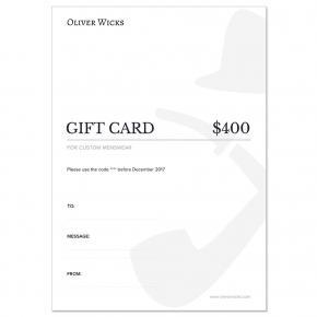 $400 / € 370 Gift e-Card - thumbnail image 1
