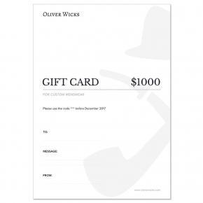 $1000 / €900 Gift e-Card - thumbnail image 1
