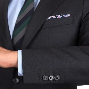 Charcoal Natural Stretch Wool Suit - thumbnail image 1