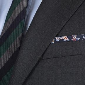 Charcoal Natural Stretch Wool Suit - thumbnail image 2
