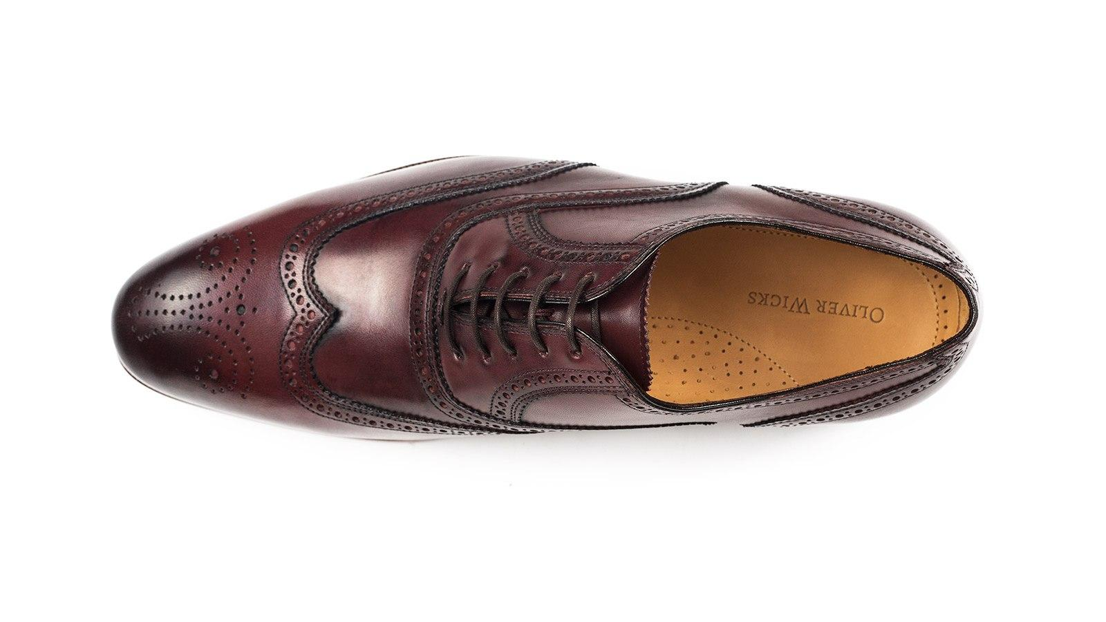 Burgundy Wingtip Oxford - slider image 1