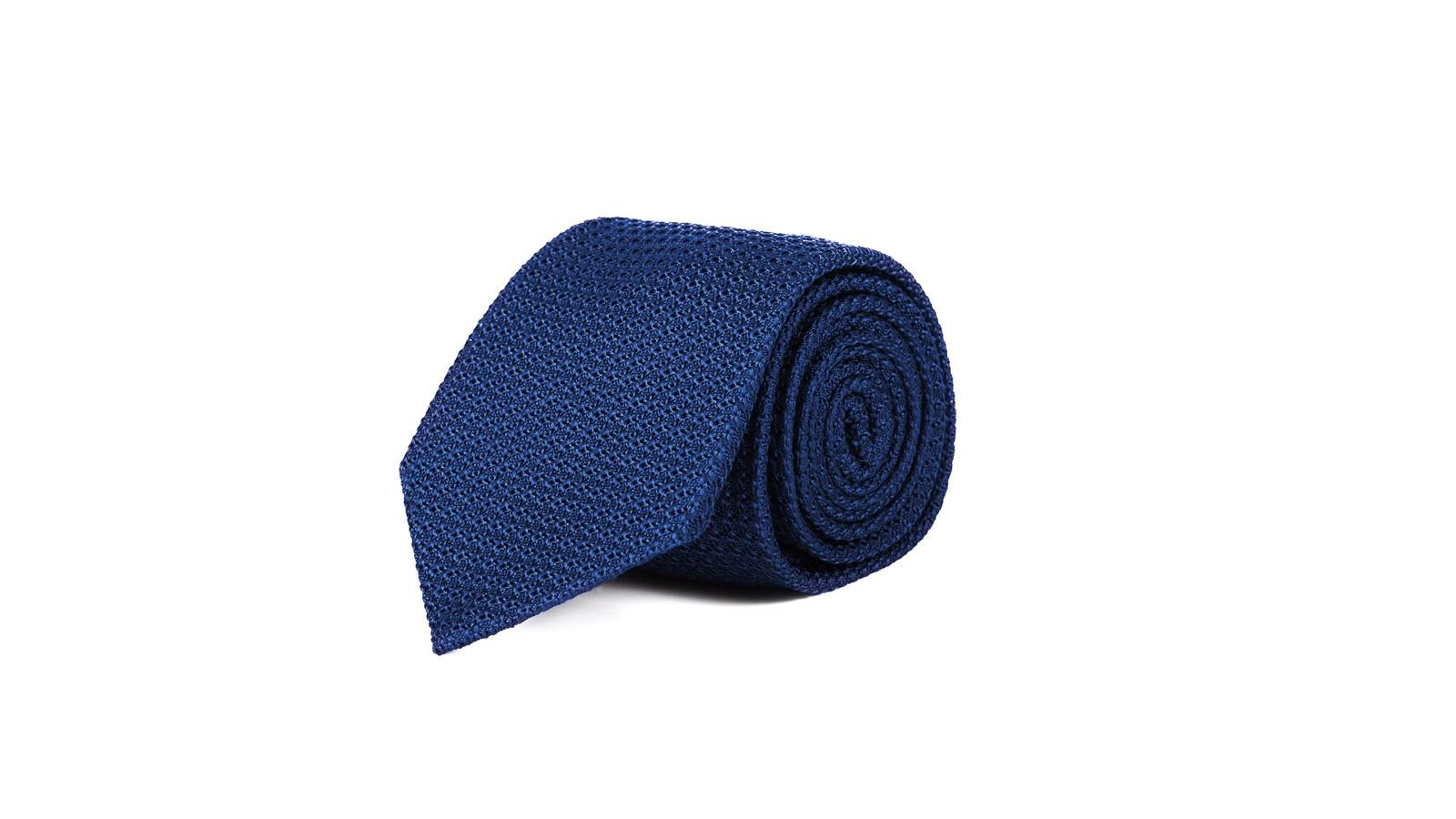 Royal Blue 100% Grenadine Silk Tie - slider image