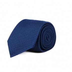 Royal Blue 100% Grenadine Silk Tie - thumbnail image 1