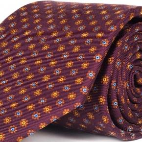 Red Floral 28 Momme Silk Tie  - thumbnail image 1