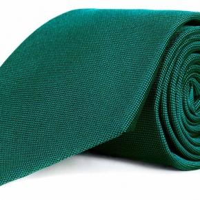Solid Green Silk Tie - thumbnail image 1