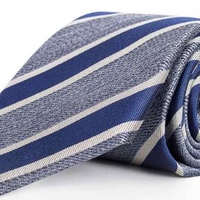 Navy & Blue Silk Tie - thumbnail image 1