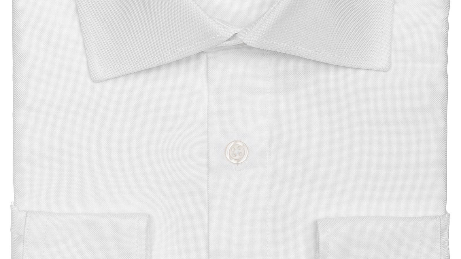 White Broadcloth Cotton Shirt - slider image