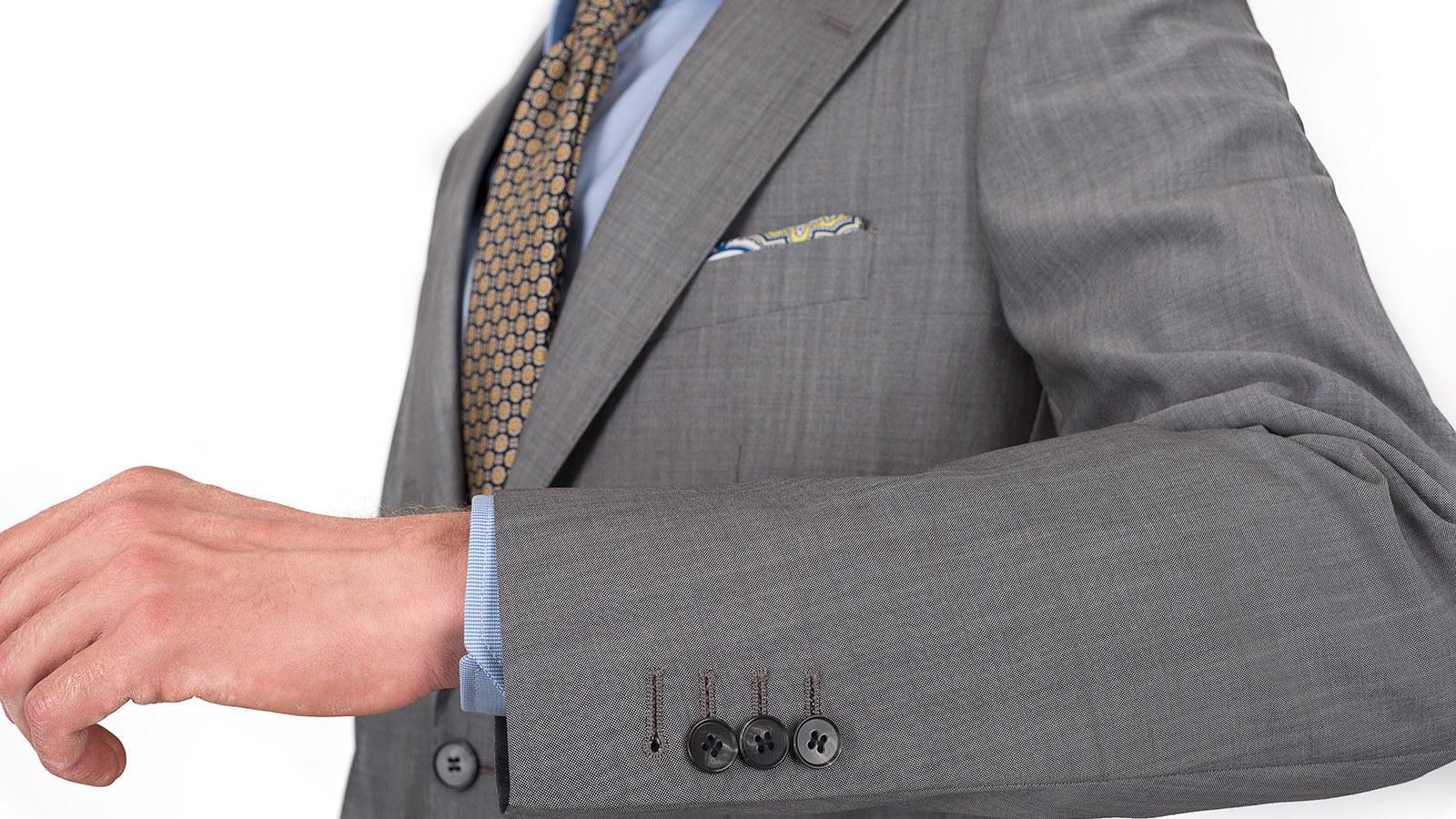 Light Grey Wool & Mohair Suit - slider image 1