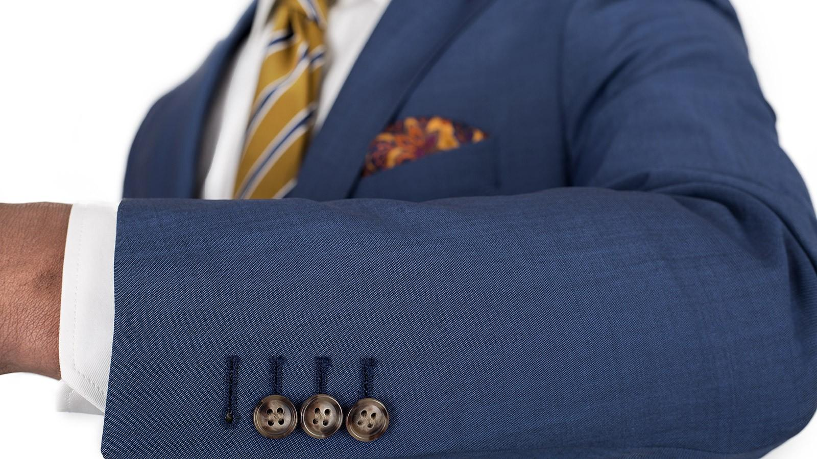 Sky Blue Wool & Mohair Suit - slider image 1