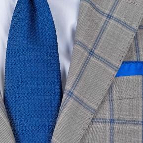 Vendetta Premium Blue Check Grey Suit - thumbnail image 2