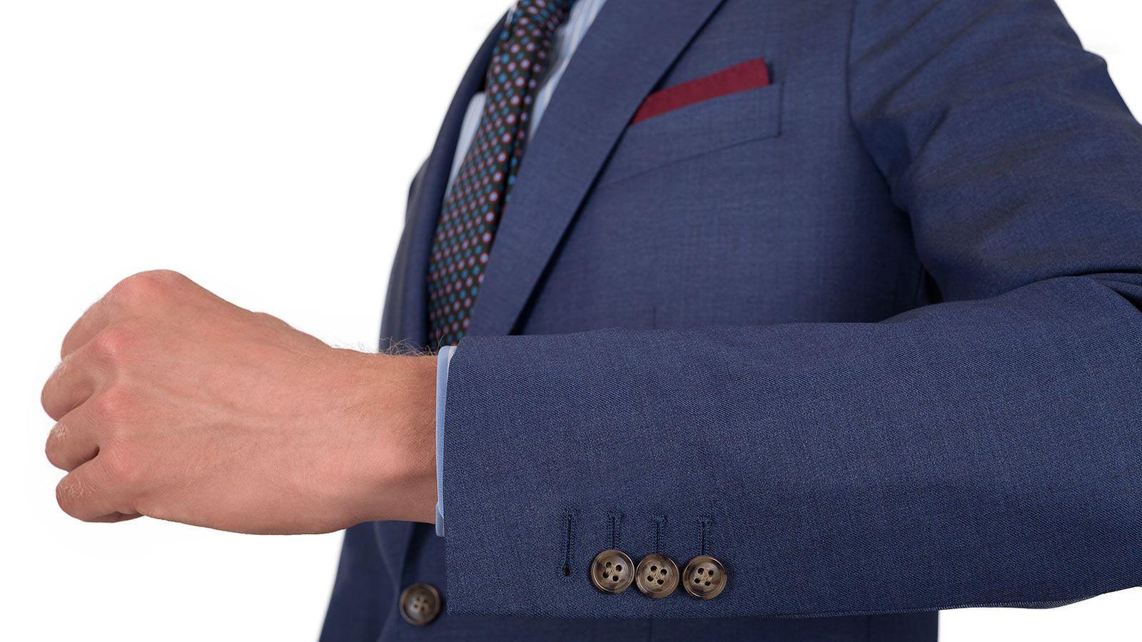 Sky Blue Natural Stretch Wool Suit - slider image 1