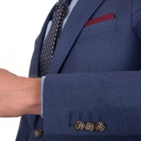 Sky Blue Natural Stretch Wool Suit - thumbnail image 1