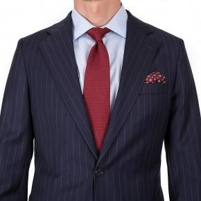 Suit in Navy Chalkstripe Wool - thumbnail image 2