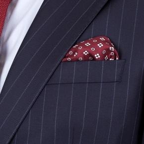 Suit in Navy Chalkstripe Wool - thumbnail image 3