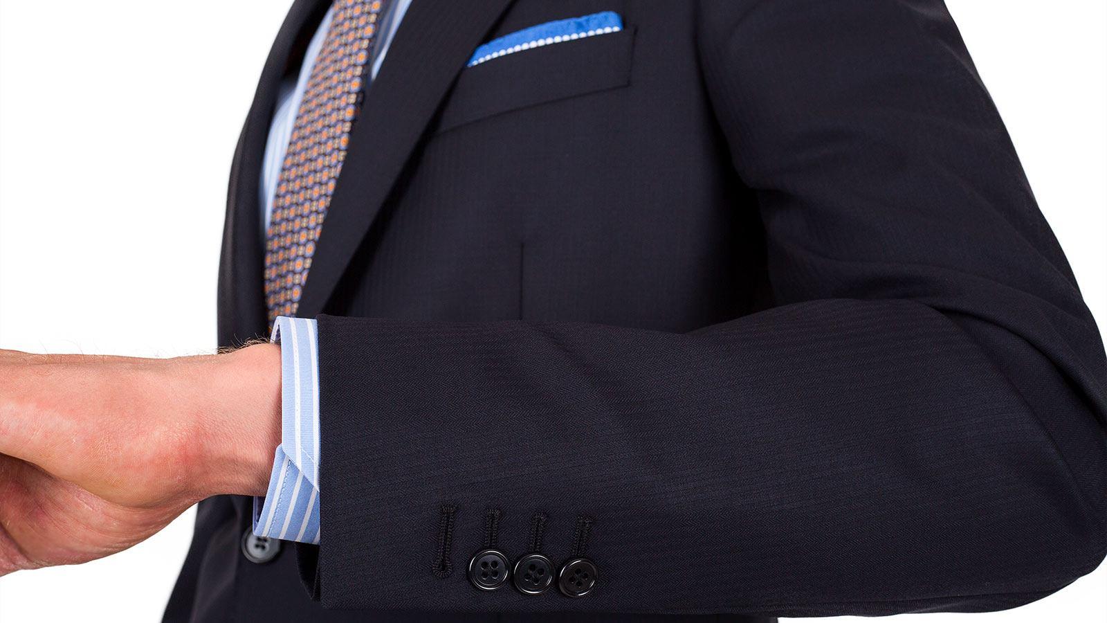 Suit in Dark Navy Wool - slider image 1