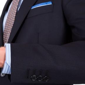 Suit in Dark Navy Wool - thumbnail image 1