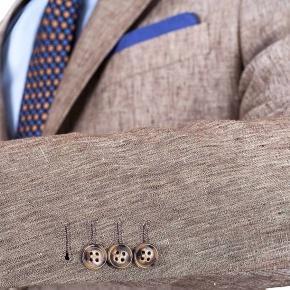 Khaki Linen Suit - thumbnail image 1