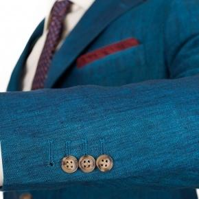 Teal Linen Suit - thumbnail image 1