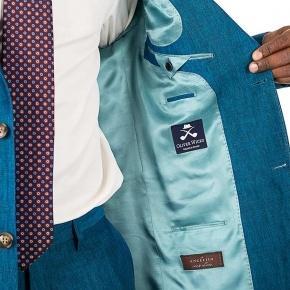Teal Linen Suit - thumbnail image 3