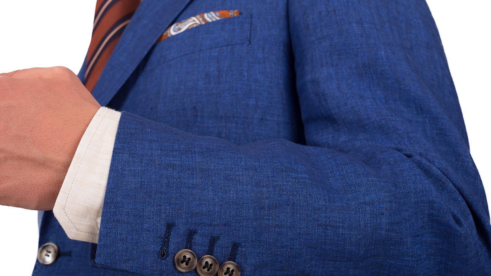 Suit in Intense Blue Linen  - slider image 1