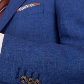Suit in Intense Blue Linen  - thumbnail image 1