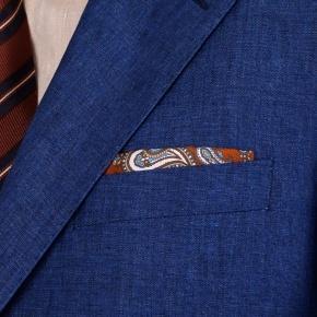 Suit in Intense Blue Linen  - thumbnail image 2