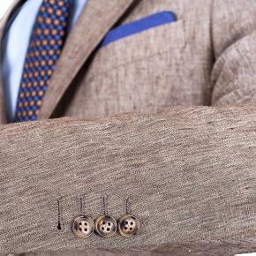 Suit in Khaki Linen - thumbnail image 1