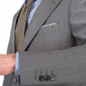 Suit in Light Grey Wool & Mohair - thumbnail image 1