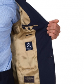 Hopsack Navy Suit  - thumbnail image 3