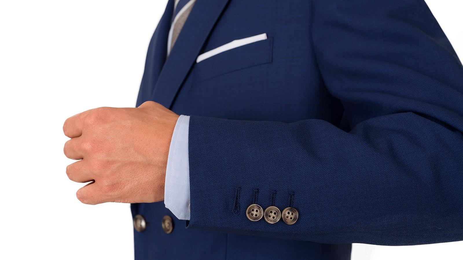 Royal Blue Pick & Pick Suit - slider image 1