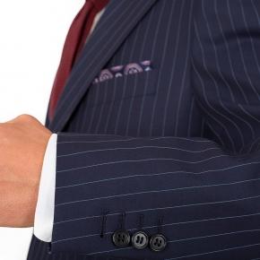 Navy Pinstripe Suit - thumbnail image 1