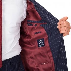 Navy Pinstripe Suit - thumbnail image 3